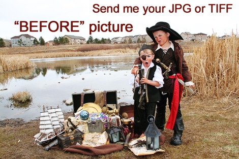 Custom children's pirate themed art by © Fairy Tales Imagery, Inc.